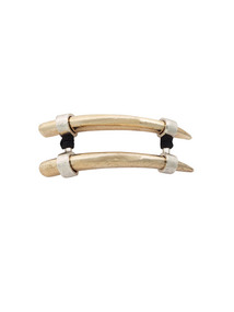 Two-Tone Horn Choker Necklace