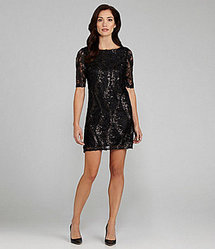 Jax Sequin Lace Sheath Dress