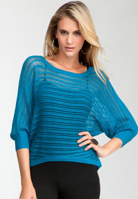 Open Stitch Hi-Lo Sweater