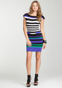 Boatneck Stripe Dress