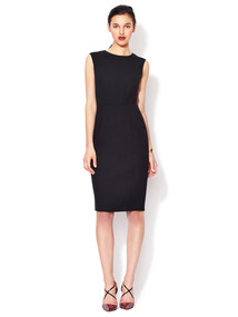Sleeveless Wool Sheath