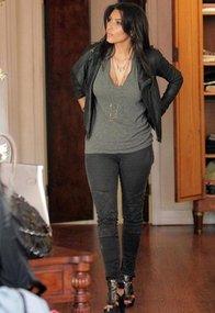 Deep V Tee Shirt - as seen on Kim Kardashian - by LnA