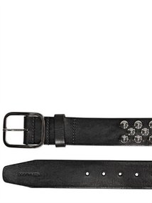 Dsquared - 4cm Spiked Leather Belt