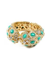 Culver Resin & Crystal Cuff Bracelet