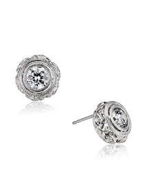 Round Cut CZ Earrings
