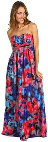 Jessica Simpson - Twist Bust Maxi Dress (Floral) - Apparel