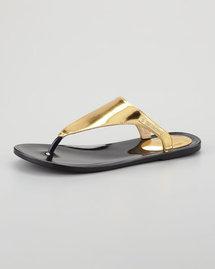 Rachel Zoe Cami Jelly Thong Sandal, Gold