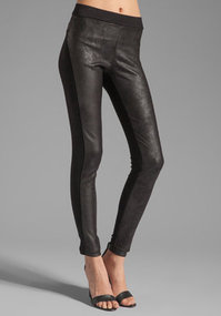Velvet Ponti with Faux Leather Holly Pant