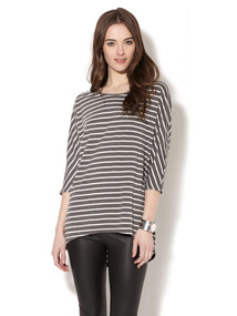 Oversized Dolman Sleeve Cotton Tee