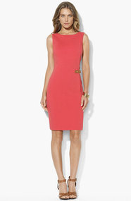 Lauren Ralph Lauren Ponte Knit Sheath Dress