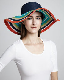 Kate Spade New York Striped Straw Sun Hat