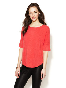 Cashmere Dolman Sleeve Crewneck