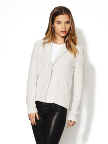Shawl Collar Textured Cardigan