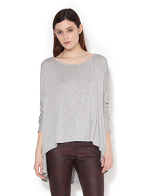 Jersey Heathered Dolman Top