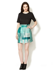 Silk Basket Weave Skirt