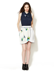 Waffle Cotton Tulip Skirt