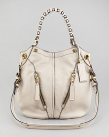 Oryany Gwen Leather Shoulder Bag, Bone
