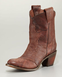 Ash Leon Cowboy Ankle Boot, Brandy