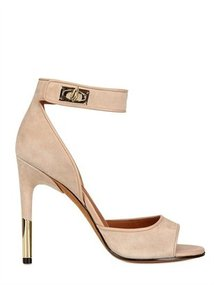 Givenchy - 100mm Shark Lock Suede Sandals