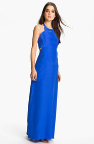 ALICE &amp; TRIXIE &#x27;Tiffany&#x27; Double Tie Silk Halter Maxi Dress