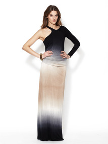 Jersey Asymmetrical Vinny Maxi Dress