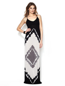Tie Dye Pin Maxi Dress