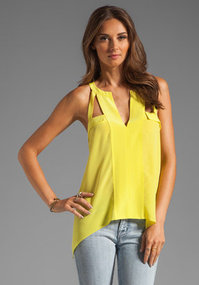 BCBGMAXAZRIA Asymmetrical Blouse