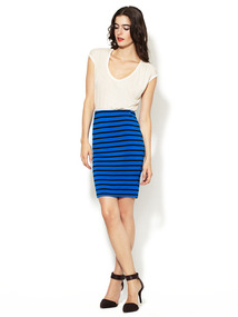 Jersey Striped Skirt