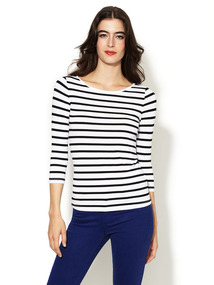 Jersey Striped Long Sleeve Tee