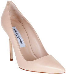 Manolo Blahnik BB nude leather pump CLASSIC