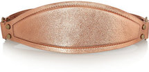 Lanvin Metallic textured-leather and brass waist belt