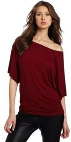Michael Stars Women's Short Sleeve Off Shoulder Dolman