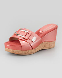 Donald J. Pliner Loyal Crisscross Wedge Slide, Salmon