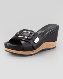 Donald J. Pliner Loyal Crisscross Wedge Slide, Black