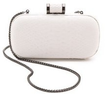 Halston heritage Embossed Python Oblong Minaudiere