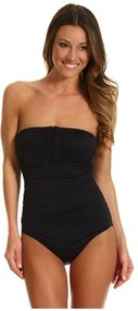 Calvin Klein - Solid Bandeau One-Piece (Black) - Apparel