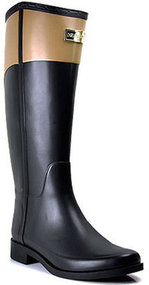 Hunter - Cece - Black Cafe Rubber Rain Boot