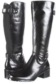 Anne Klein - Evanthe Wide Calf Riding Boot (Black Leather) - Footwear