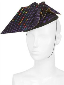 Versace Origami Satin And Felt Hat