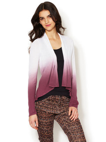 Ombre Open Front Cardigan