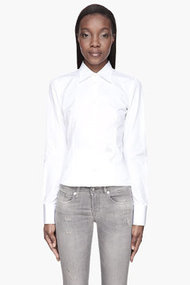 DSQUARED2 White Simple Chic logo Shirt