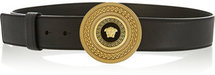 Versace Medallion-clasp leather belt