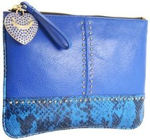Juicy Couture - Snake Stud Medium Pouch (Bright Lapis) - Bags and Luggage