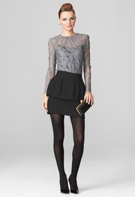 Milly Blouses - Grey Long Sleeve Ivy Lace Blouse