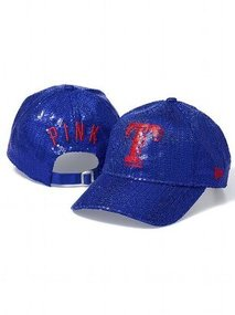 PINK Texas Rangers Bling Baseball Hat