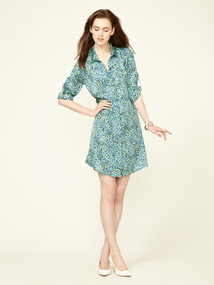 Cut-Out Flutter Shirtdress