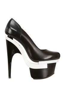 160mm Mirrored Leather Pumps