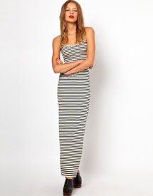 American Apparel Stripe Spaghetti Maxi Dress