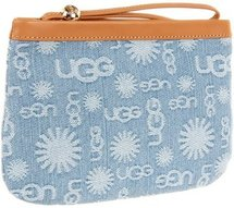 UGG - Logo Denim Wristlet (Denim Jacquard) - Bags and Luggage
