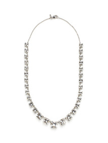 Carre Rock Crystal Graduated Necklace